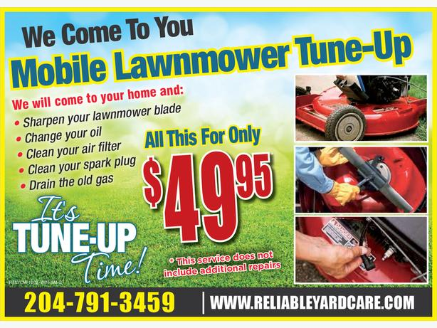 Winnipeg Mobile Lawnmower Tune-Up $49.95