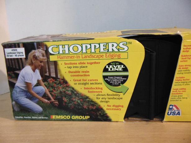 Choppers Hammer In Garden Edges New In Box 20 Feet 40 Pc