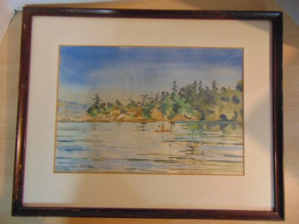 Vintage Watercolor Painting At The Beach Owen Goward