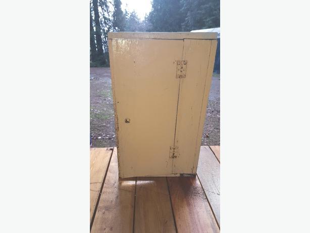 Very old medicine half door cabinet with lock