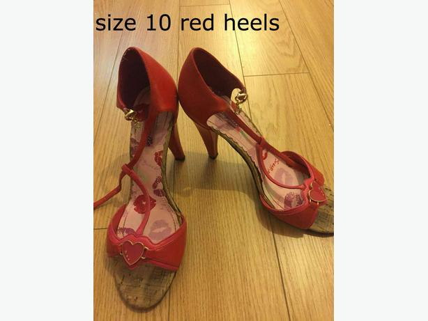 heels/sandals size 10 not wide $20 per items