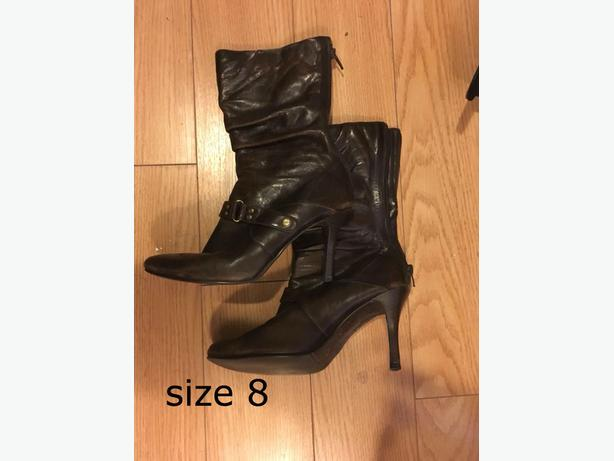 boots/heels/sandals size 8 /size 9 not wide $20 per items