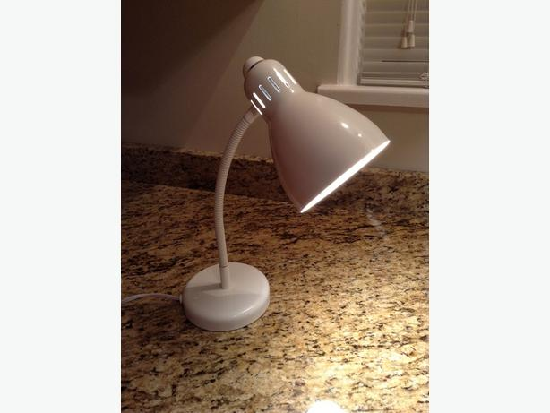 Nice White Desk Lamp with Adjustable Gooseneck