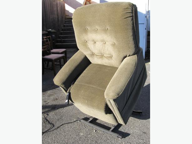 Electric recliner and lift-to-stand chair as pictured
