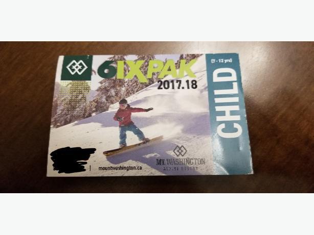 Mt. Washington Child ski day pass-$123456(Victoria)