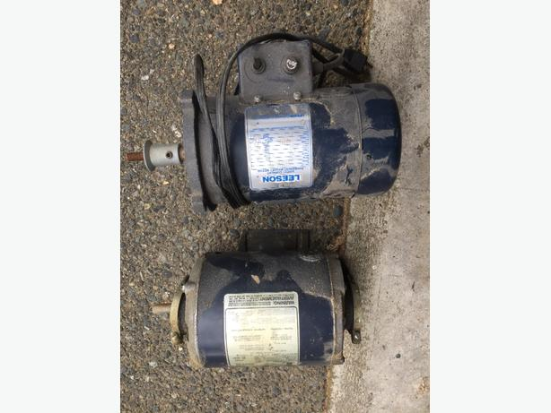 2 Electric Motors 1/4hp