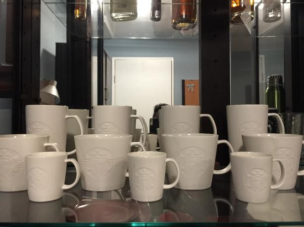 Starbucks White Mugs Unused