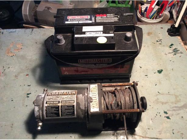 Winch and 12V Battery