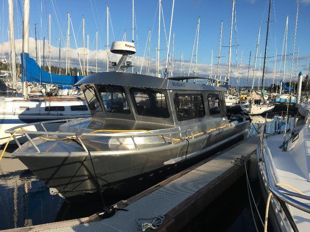 2017 26' custom aluminum fishing boat