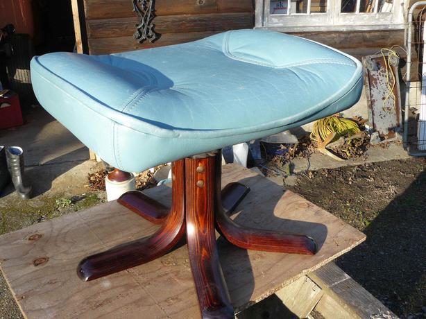 nice mid century stouby blue stool