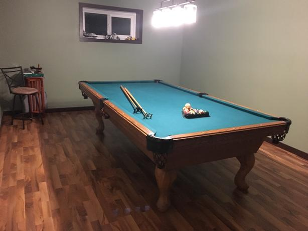 full size slate pool table