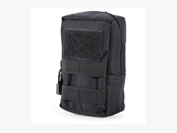 Tactical Military Molle Utility Belt Waist Phone Pouch Bag - Black