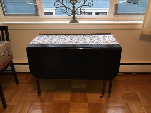 antique fold down table