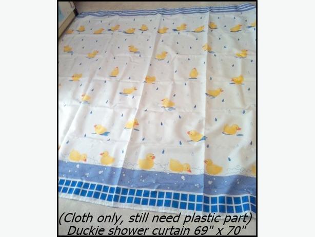 "Duckie Cloth Shower Curtain 69"" x 70"""
