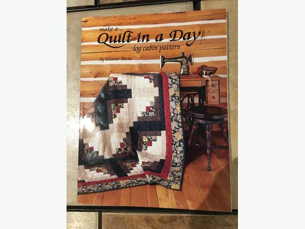 'Make a Quilt in a Day' Log Cabin Pattern Book For Sale - Brand New!