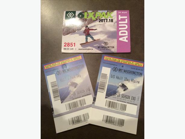 Mount Washington adult lift tickets