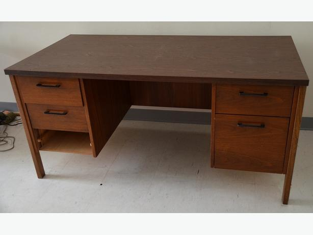 """60"""" Double Pedestal Wood Desk or Woodworking Table"""