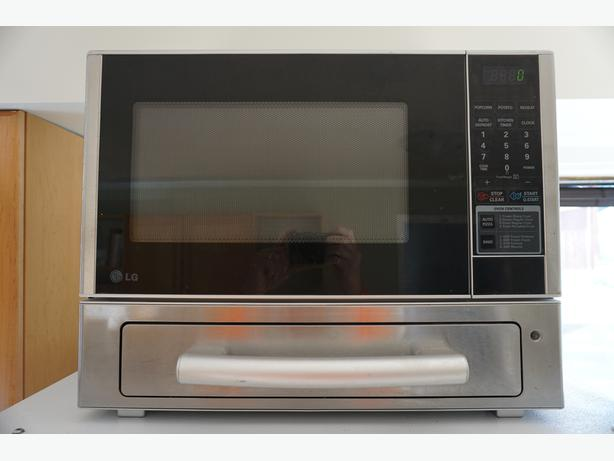 LG Microwave - Stainless Finish, Pizza Drawer
