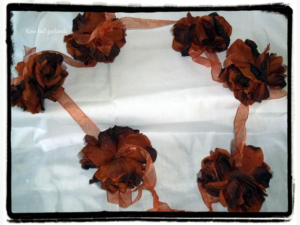 rose ball garland