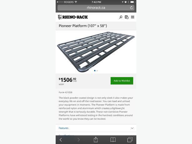 Rhino Rack platform