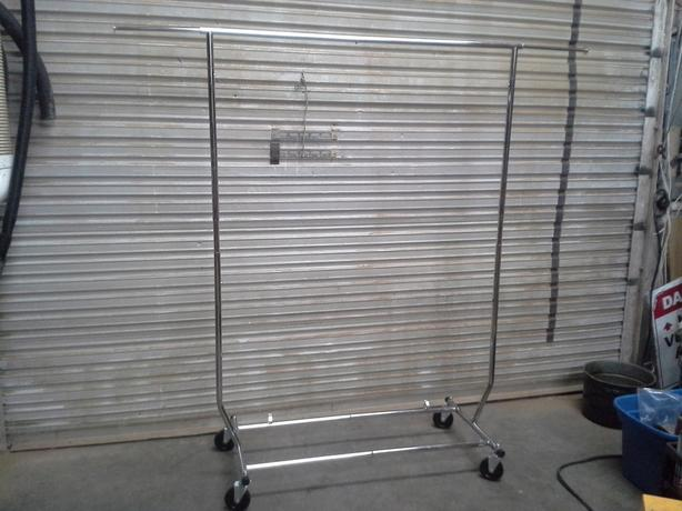 Commercial Clothing rack on wheels