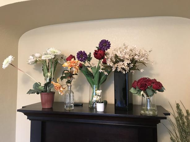 Artificial Flowers, plants & containers