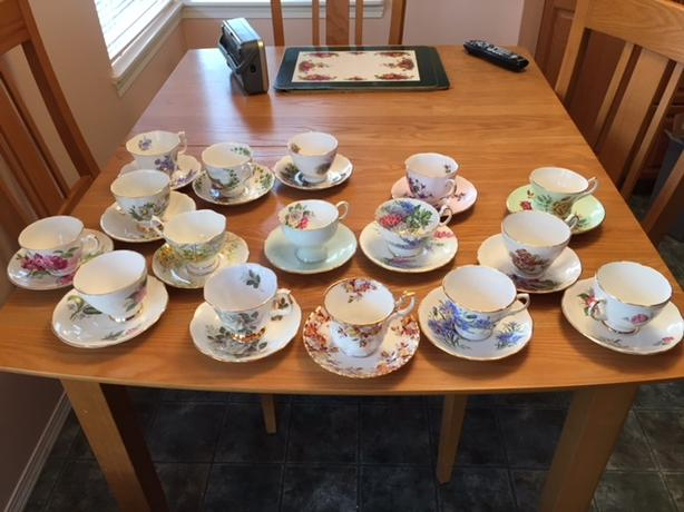 1964 vintage china cups and saucers
