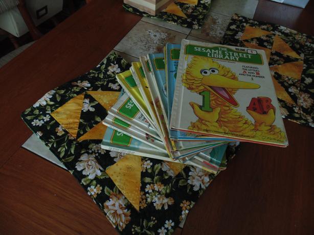 Sesame Street Library set of 14 books 1970's