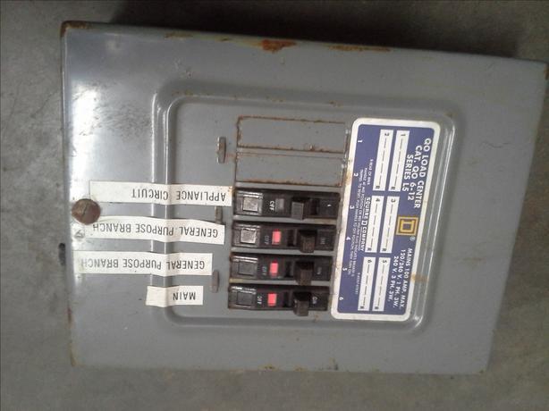 100 amp Sub Panel Square D
