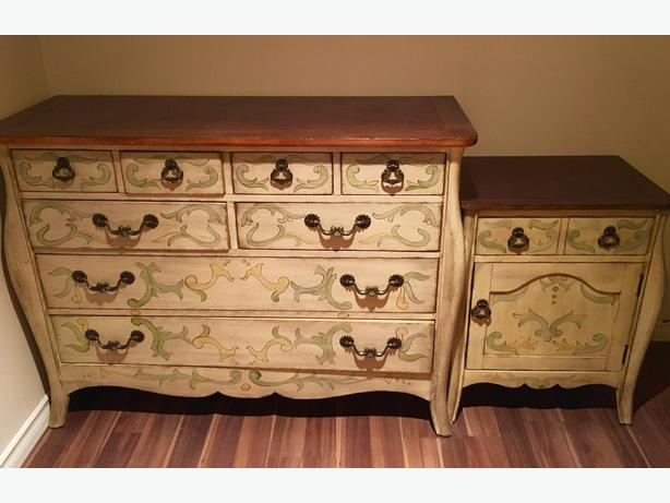 Decorative dresser and two bedside tables