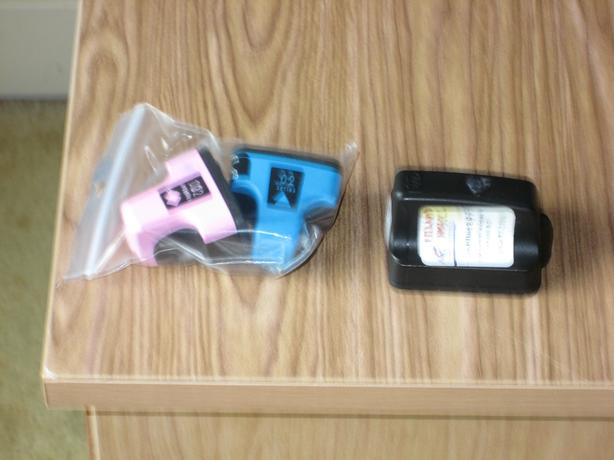 "HP ink cartridges   To fit HP 6180 Photosmart printer ""T shaped"""