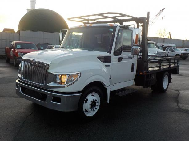 2013 International TerraStar Regular Cab 12 Foot Flat Deck Diesel