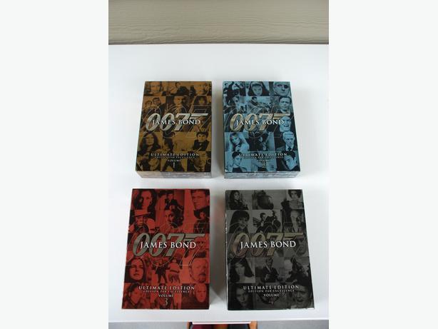 DVDS - James Bond 007 (3 boxed sets, mint condition)