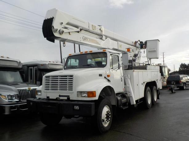 1995 International 4900 Crane Service Diesel Truck Bucket Truck with Air Brakes