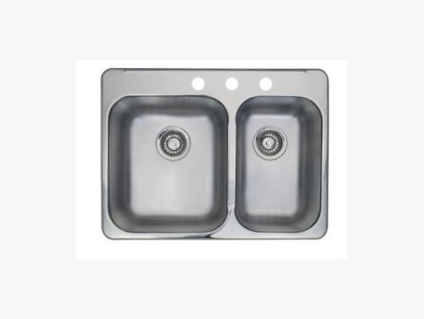50% off Sale! New Kindred RCL2027R/3CT Double Bowl Kitchen Sink ...
