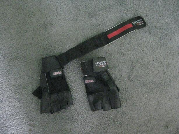 YORK LEATHER GLOVES WITH BUILT IN WRIST STRAPS
