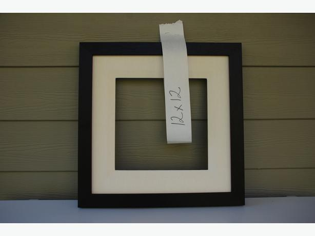 """12"""" x 12"""" Picture Frame (mahogany with liner #2011-081)"""