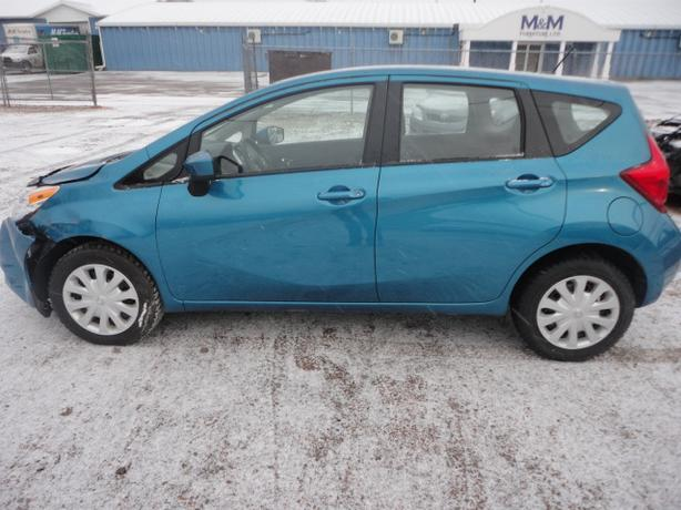2015 NISSAN VERSA SV NOTE 19646 KMS, 8900 REPAIRED WITH WARRANTY