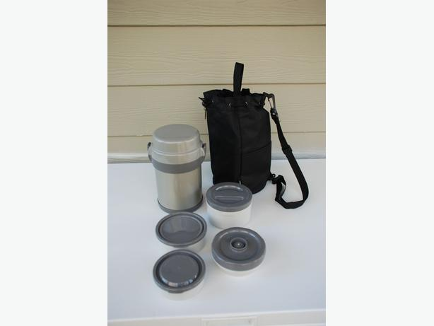 Heating/Cooling Lunch Box (4-part container with carrying bag)