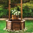 "Rustic Wishing Well Wood Planter Yard Ornament 44"" Tall Brand New"