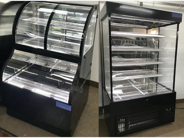 OPEN MERCHANDISER, GRAB N GO, COMBINATION DISPLAY CASE, DUAL SERVICE COOLER