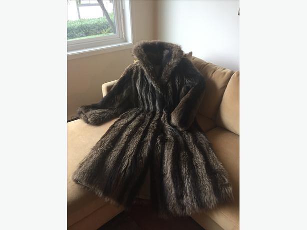 Full Length Muskrat Fur Coat