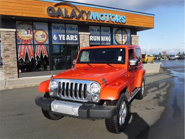 2015 Jeep Wrangler SAHARA- NAV, LEATHER SEATS, TOUCH SCREEN