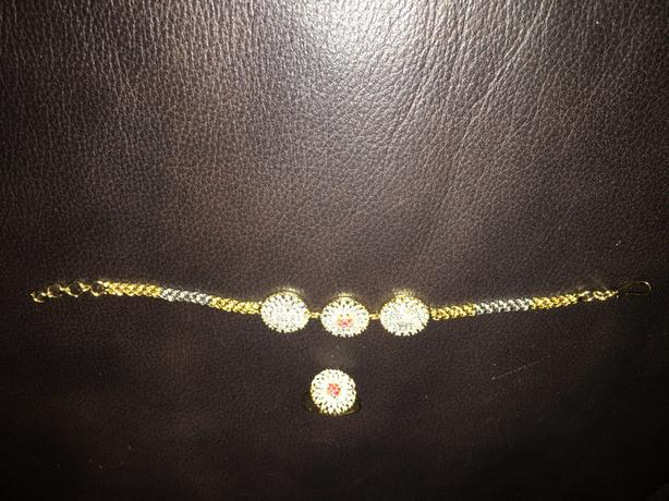 Ruby Bracelet with Ring for Sale