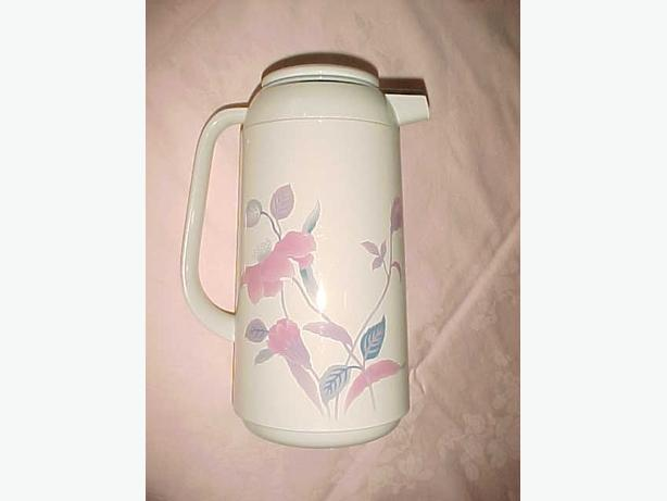 MIKASA SILK FLOWERS THERMAL HOT/COLD CARAFE