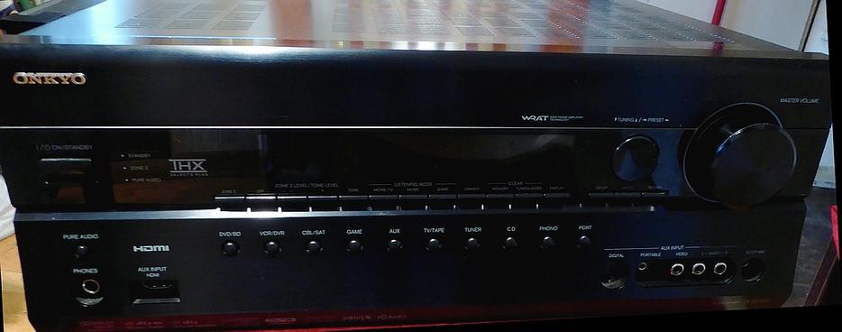 $225 · Onkyo 7 1 HDMI, HD Audio,THX,Audyssey,7 1 preamp outs setup mic