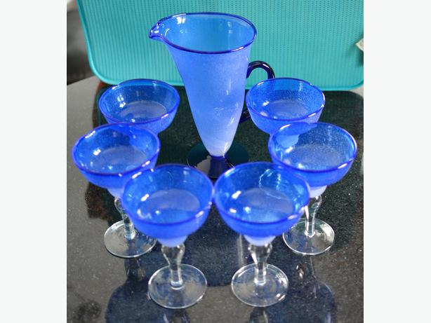 7 piece Margarita Set (Pitcher and 6 Glasses)