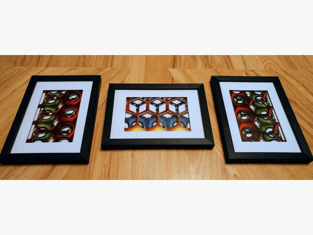3 piece Abstract Board Game Art