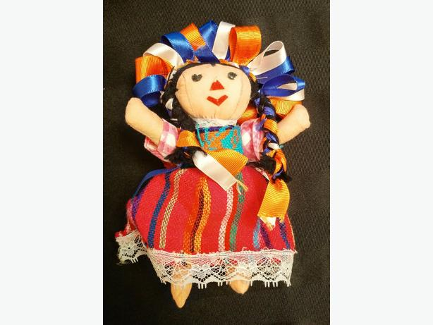 handcrafted Mexican doll and coin purse