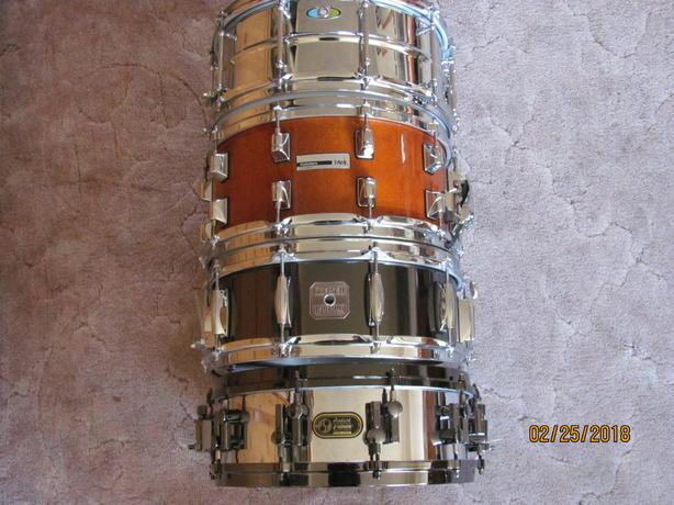 Four snare drums